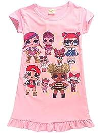 Vannie LOL Surprise Dolls Niña Vestido de Princesa Cosplay Skirt Mangas Cortas Vestido Princesa Falda Fiesta Carnaval Boda Cumpleaños…