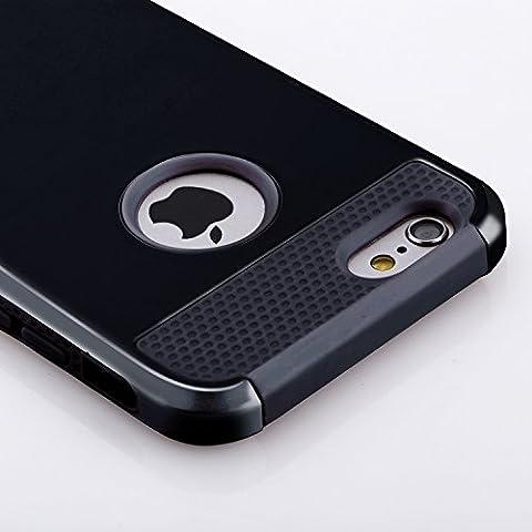 Funda iPhone 6S Plus  y Funda  iPhone 6 Plus(5.5 pulgadas),de plástico duro y de silicona Funda proctetora,de goma con dos cubiertas de oro para defensa militar