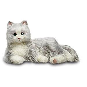 Memorable Pets Katze Plüsch Tabby Therapiepuppe für die Person mit normalem Alterungsgedächtnisverlust oder caregivers Grau