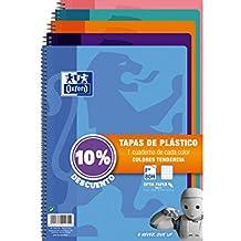 Oxford 400091366 - Pack de 5 cuadernos Fº, 80 hojas, tapa dura, 4 mm