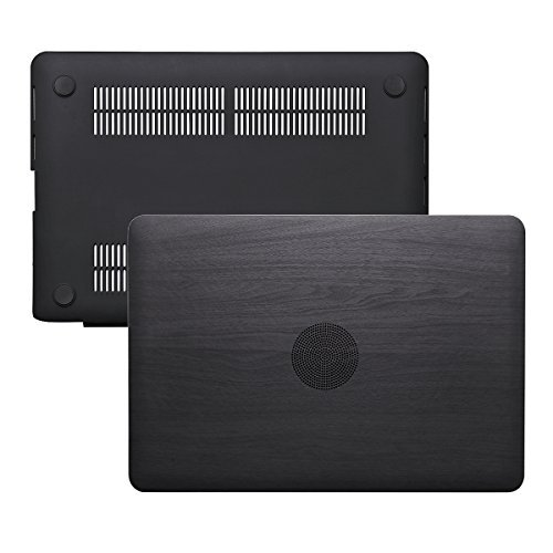 Ximeng, custodia per MacBook Pro Retina 13 (senza CD-ROM Drive), rivestimento in similpelle liscia morbida, guscio duro per MacBook Pro 13,3' con display Retina Black Wood Grain