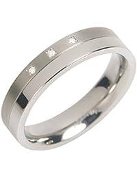 Boccia Herren-Ring Titan Diamant weiß Gr.64 (20.4) 0129-0364