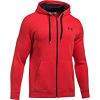 Under Armour Rival Fitted Full Zip Sudadera, Hombre, Rojo (600), M
