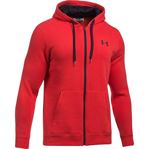 Under Armour Herren Rival Fitted Full Zip Oberteil,Rot,L Under Armour Long Sleeve Pullover