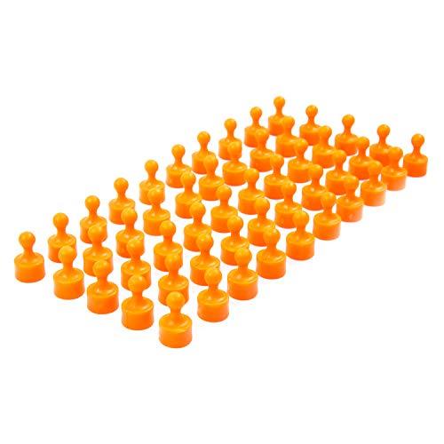 50 vollfarbige orange Neodym Magnet-Pins/Push-Pins für Whiteboard, Kühlschrank