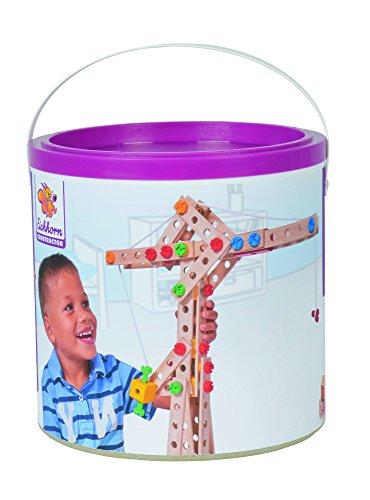 Eichhorn 100039047 - Kran 170-teilig Holz-Konstruktions-Set, 5 verschiedene Modelvarianten baubar, FSC 100% Kran-spielzeug Für Kinder