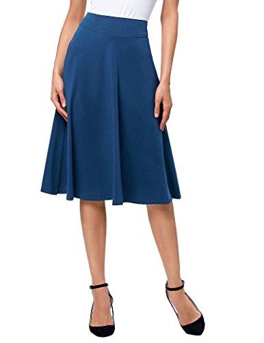 Kate Kasin Mujer Vintage Midi Falda Alta Cintura hasta la Rodilla Falda para Mujer Tamaño S KK279-4
