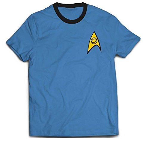Star Trek Blue Medical Uniform Offiziell Männer T-Shirt Herren (Large)