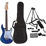 Yamaha PAC012 - Guitarra eléctrica metálica, color azul, incluye funda para guitarra eléctrica,