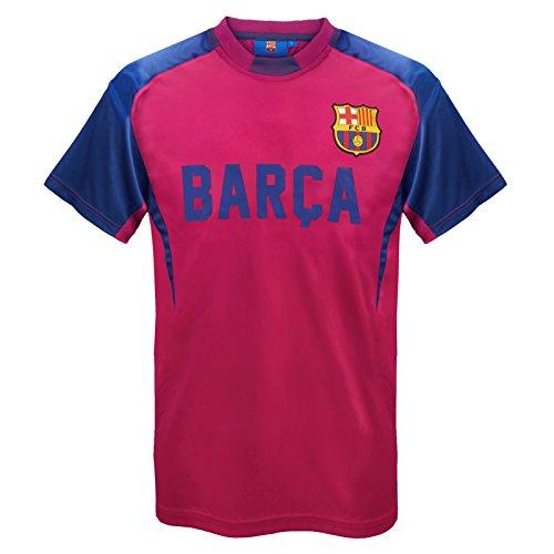 FC Barcelona Official Football Gift Mens Poly Training Kit T-Shirt
