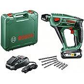 Bosch DIY Uneo Maxx Akku-Bohrhammer inkl. Koffer + Akku 2.5Ah + Zubehör (060395230A)