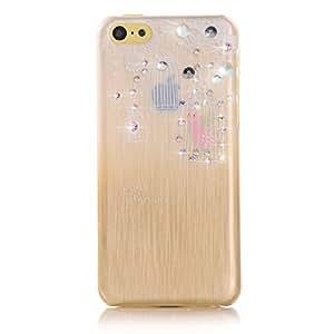 EVETANE - Coque cage à oiseau à strass pour Apple iPhone 5C