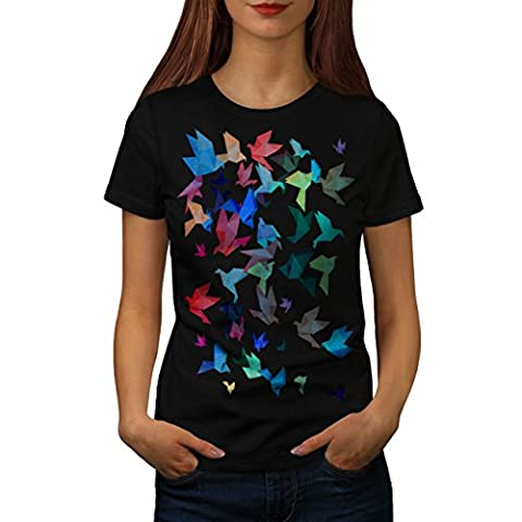Origami Vogel Kunst Japan Kunst Damen M T-shirt | Wellcoda