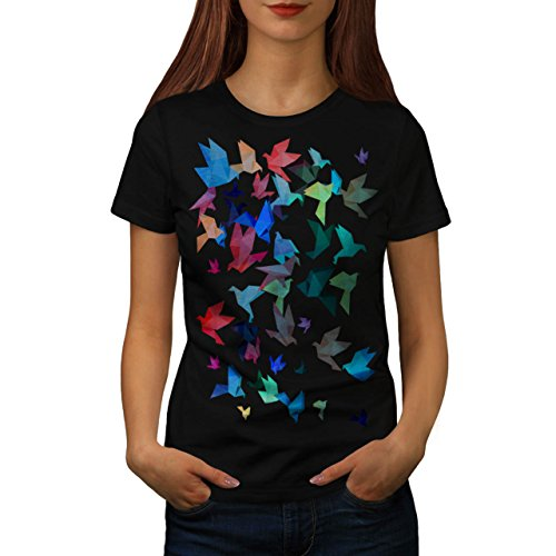 Origami Vogel Kunst Japan Kunst Damen M T-shirt | Wellcoda