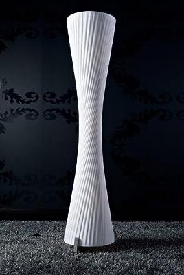 Stehlampe Helix L 160x35 cm weiss Art Deco Plissee Standleuchte