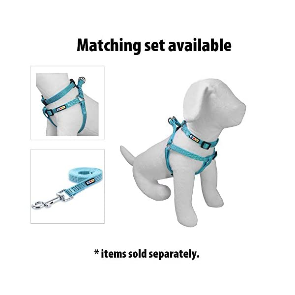 PAWTITAS Reflective Leash Puppy Leash Reflective Dog Leash Highly Reflective Threads Heavy Duty Dog Training Leash Blue Dog Leash Available 180 cm Dog Leash or 120 cm Dog Leash 2
