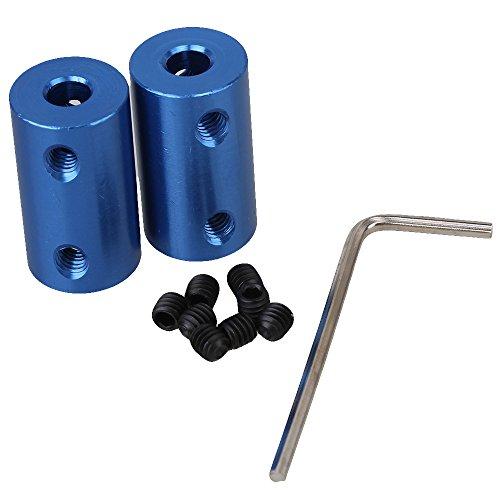 Preisvergleich Produktbild cnbtr blau Aluminium Metall Schaft d14l25Kupplung Starre Kupplung Kupplung Motor Anschluss 5Shop Starterset Dehnstab/Expander/Taper 2Stück