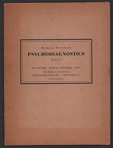 Psychodiagnostik / Psychodiagnostics - Tafeln / Plates