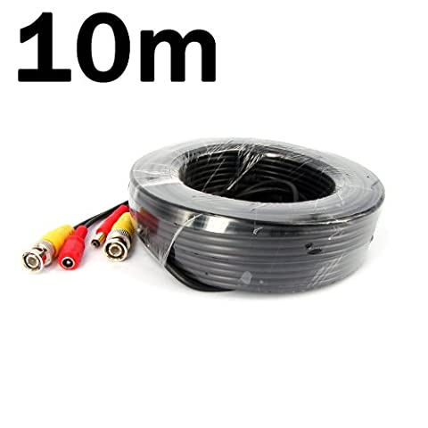 KKmoon 10M / 32.8 Feet BNC Video Power Cable For CCTV Camera DVR Security System (10M)