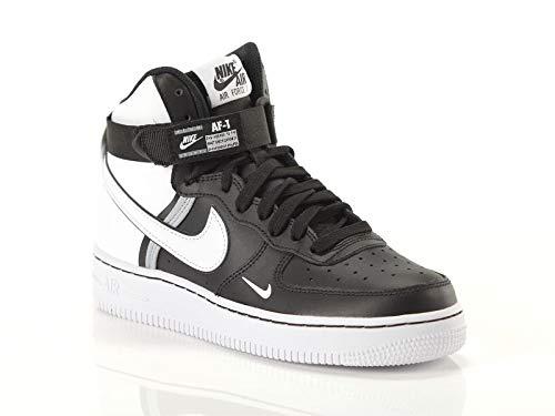Nike Jungen AIR Force 1 HIGH LV8 2 (GS) Basketballschuhe, Mehrfarbig (Black Wolf Grey-White 010), 38 EU