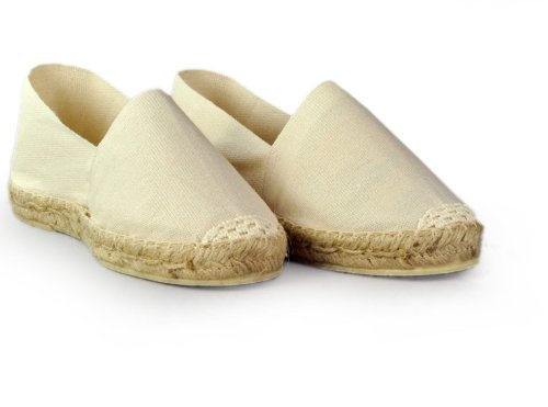 Espadrille homme blanc - fabrication artisanale made in pays basque france Ecru