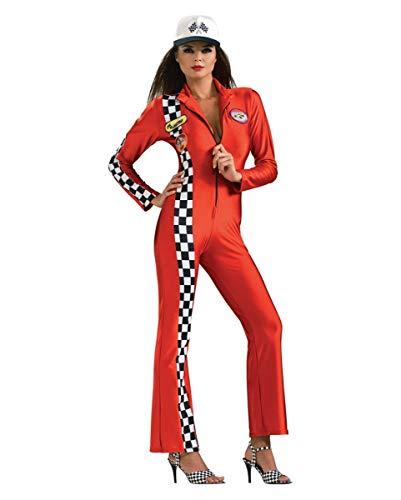 Horror Kostüm Jumpsuit - Horror-Shop Sexy Boxenluder Rennfahrerin Kostüm Jumpsuit