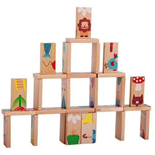 Holzspielzeug Tier Domino 28 Stück für Kinder Baby