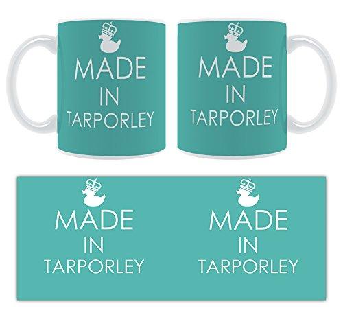 Made in Tarporley-– Stilisierte geschoben Keramik Tasse