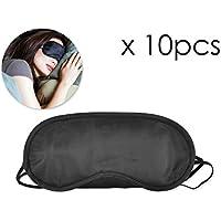 Shopready 10 Stück Schlafen Augenmaske für Männer Frauen Schlafen Maske für Reisen mit 2 Gummibändern - Schwarz preisvergleich bei billige-tabletten.eu