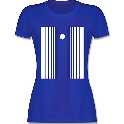 Karneval & Fasching - Doppler Effekt - tailliertes Premium T-Shirt mit Rundhalsausschnitt für Damen Royalblau