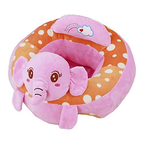 VERCART Nursing Pillow y Learning Seat Cojín de algodón Arnés para bebé recién nacido Baby Child Velvet rosa 50x50x30x25cm