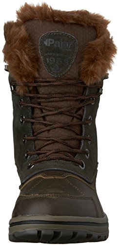 Pajar Adrian Cuir Botte de Neige Dark Brown-Brown-Black