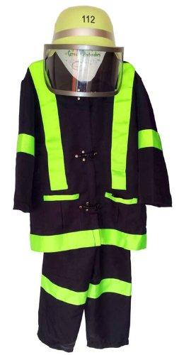 (Trullala Feuerwehr-Set, Feuerwehrverkleidung, Faschingskostüm Größe: M (4-6 Jahre))