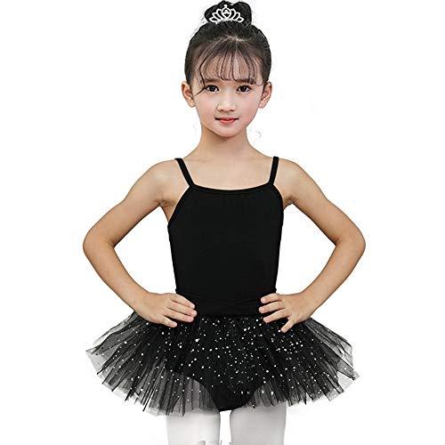Kostüm Mit Schwarzen Trikots - Mädchen Trikot Kleid Ballett/Tanz/Gymnastik Tutu Rock Dancewear Kostüm Gymnastik Trikot Rock für Jugendliche Frauen Rosa Lila Schwarz Mit Spitze