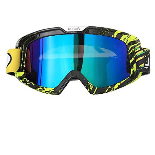 Lafeil Sport Brille Männer Damen Herren Motorradausrüstung Off Road Schutzbrillen Helmbrillen Outdoor Ski Ski Schutzbrillen Colorful A05