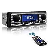 Aigoss Autoradio Bluetooth Radio Coche Manos Libres FM Estéreo de Control Remoto 4 x 60W MP3...