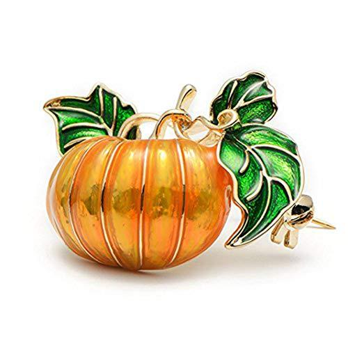 YouCY Emaille Kürbis-Brosche Halloween Kristall Revers Pin Weihnachten Urlaub Geschenk für Frauen Mädchen Kinder