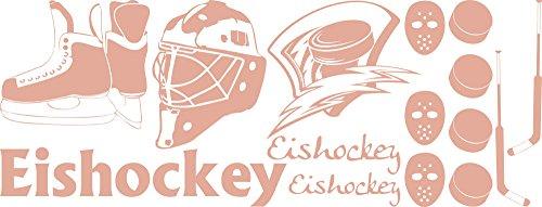 _958 Wandtattoo Aufkleber Tattoo Set für Jugendzimmer Eishockey Puck Maske Sport (150x57cm//958 Baby Doll) (Doll Masken)