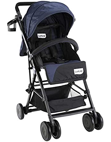 LuvLap Magic Portable Stroller/Pram, Compact & Lightweight, Newborn Baby/Kids, 0-3 Years (Navy Blue)