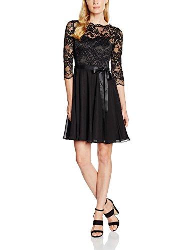 Swing Femme Robe en Dentelle Noir (Black 1010)