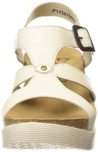 FLY London Weil670fly, Sandales Plateforme femme Blanc Cassé - Off White (OFFWHITE)