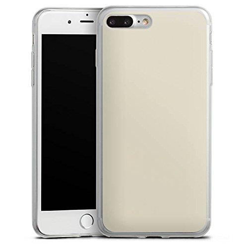 Apple iPhone 8 Plus Slim Case Silikon Hülle Schutzhülle Taupe Grau Braun Silikon Slim Case transparent