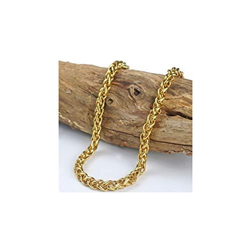 14a0825588c78 Pulsera Brazalete, Regalo De La Joyería,Miami Cuban Chain Bracelet Men Gold  Stainless Steel Curb Chain Link Bracelet Biker Hippie Hip Hop Men Jewelry  ...
