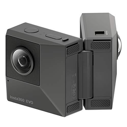 hardwrk Insta360 EVO Edition mit exklusiver Schutzhülle - 360 Grad 3D Action Sport Kamera Cam - kompatibel mit Apple iPhone und Android - 5,7k Video Auflösung - 18 MP - VR 3D Panorama - FlowState (Video-brille Für Das Ipad)
