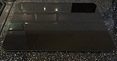 Large 40x50cm High Gloss Glass surface Board - Black By Tuftop