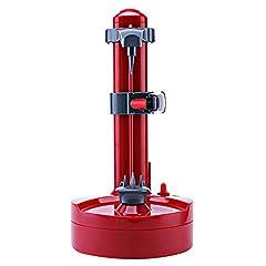 Idea Regalo - Gmxop - Sbucciatore Elettrico Multifunzione per Patate e Arancia, Rosso, EU