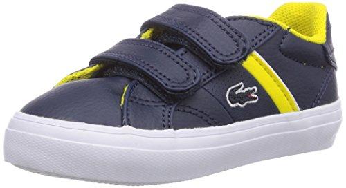 Lacoste FAIRLEAD FSM, Unisex-Kinder Sneakers Blau (DK BLU/YLW 250)