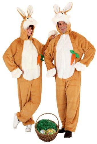 Hase Overall in braun mit Möhre Herren Kostüm zu Karneval Fasching