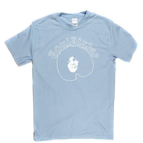 Soul Sister Funk Music Womens Girls Tee Genre T-shirt Himmelblau