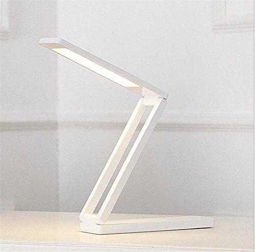 LUCKY CLOVER-A Christmas Geschenke dimmbar portabler Tisch helles Licht-Schalter LED-Folding Schreibtisch Lampe lesen, Relaxen und schlafen verschiedene Modi Schlafzimmer Büro zuhause
